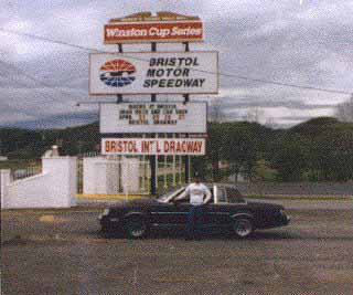 Me at the old Bristol Raceway entrance.