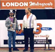 Me accepting trophy from Ken Seggie.